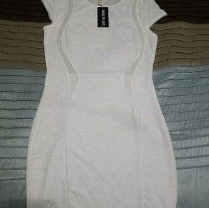 Sparkly white dress